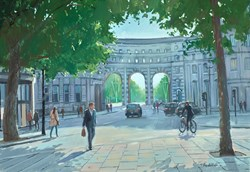 Admiralty Arch by Charles Rowbotham - Original Painting on Board sized 17x12 inches. Available from Whitewall Galleries
